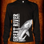Fishbum Jumping Sturgeon Black T