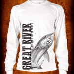 Fishbum Jumping Sturgeon T White