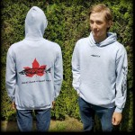 Grey Canadian Sturgeon Hooded Sweatshirt